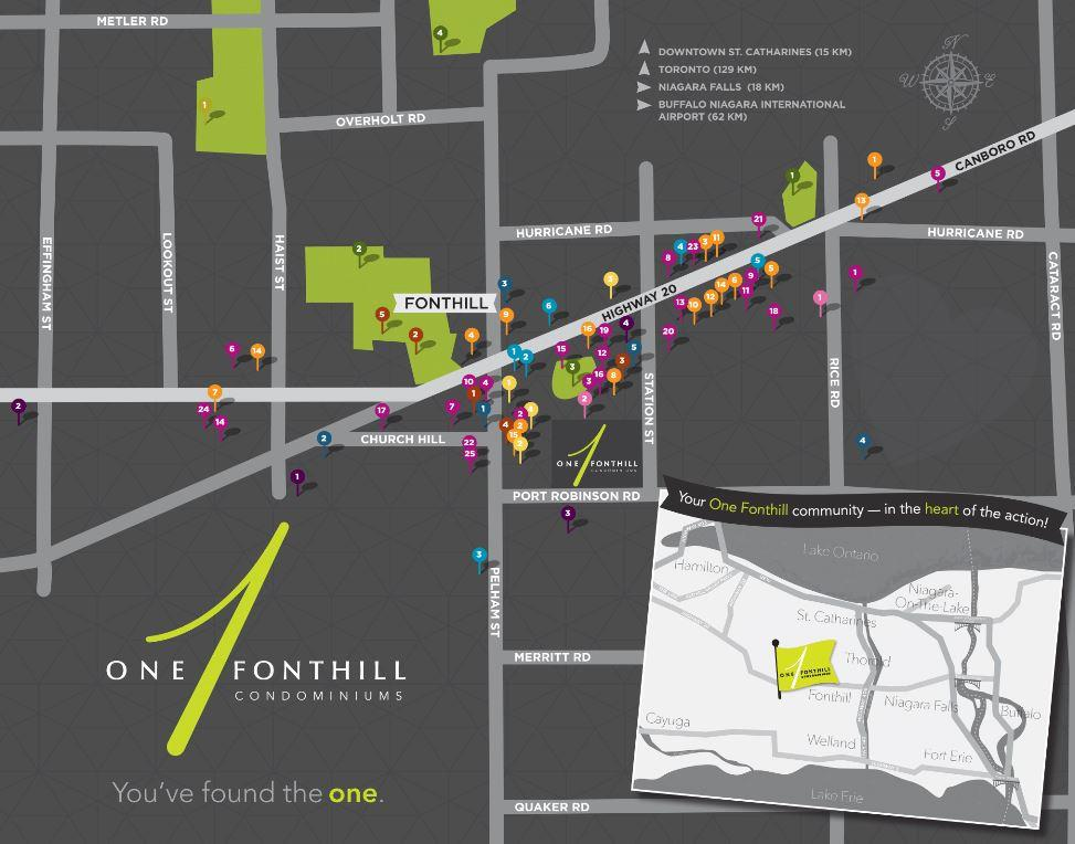 Area Map of One Twenty Condos Pelham, Ontario
