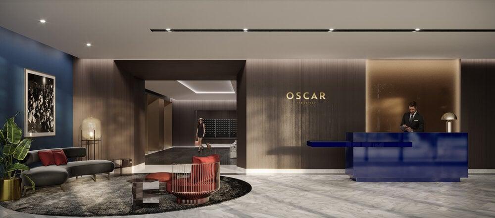 Rendering of Oscar Residences lobby
