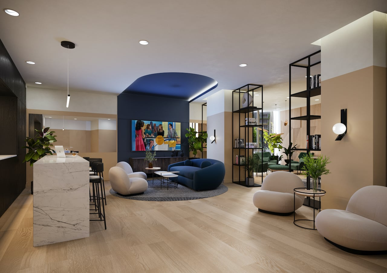 Rendering of Realm Condos lounde