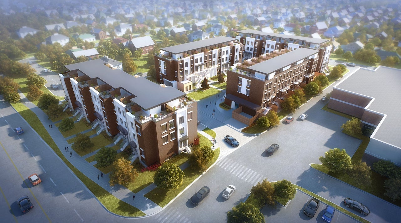 Rendering of 9560 Islington Urban Towns aerial