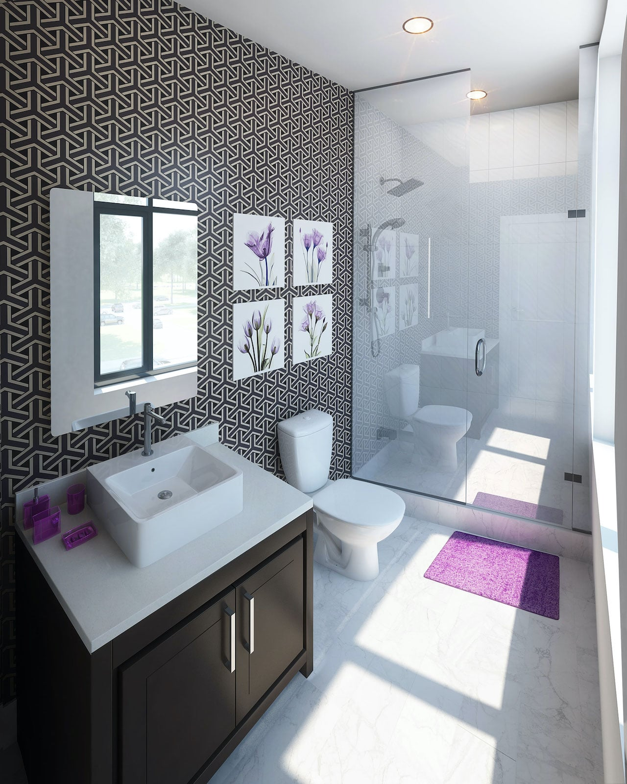 Rendering of 9560 Islington Urban Towns interior bathroom