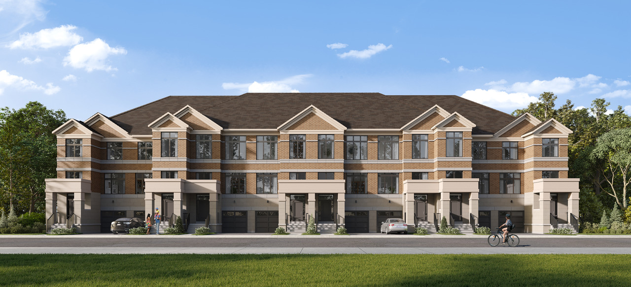Rendering of Ivylea towns exterior elevation A front loaded