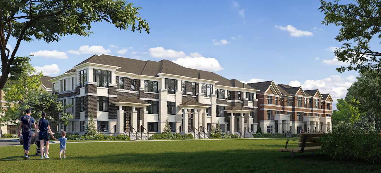 Rendering of Ivylea towns exterior streetscape