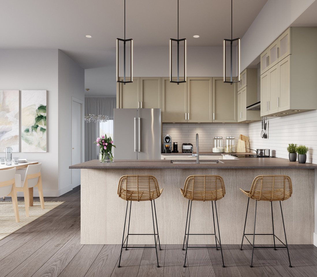 Rendering of Ivylea towns kitchen H