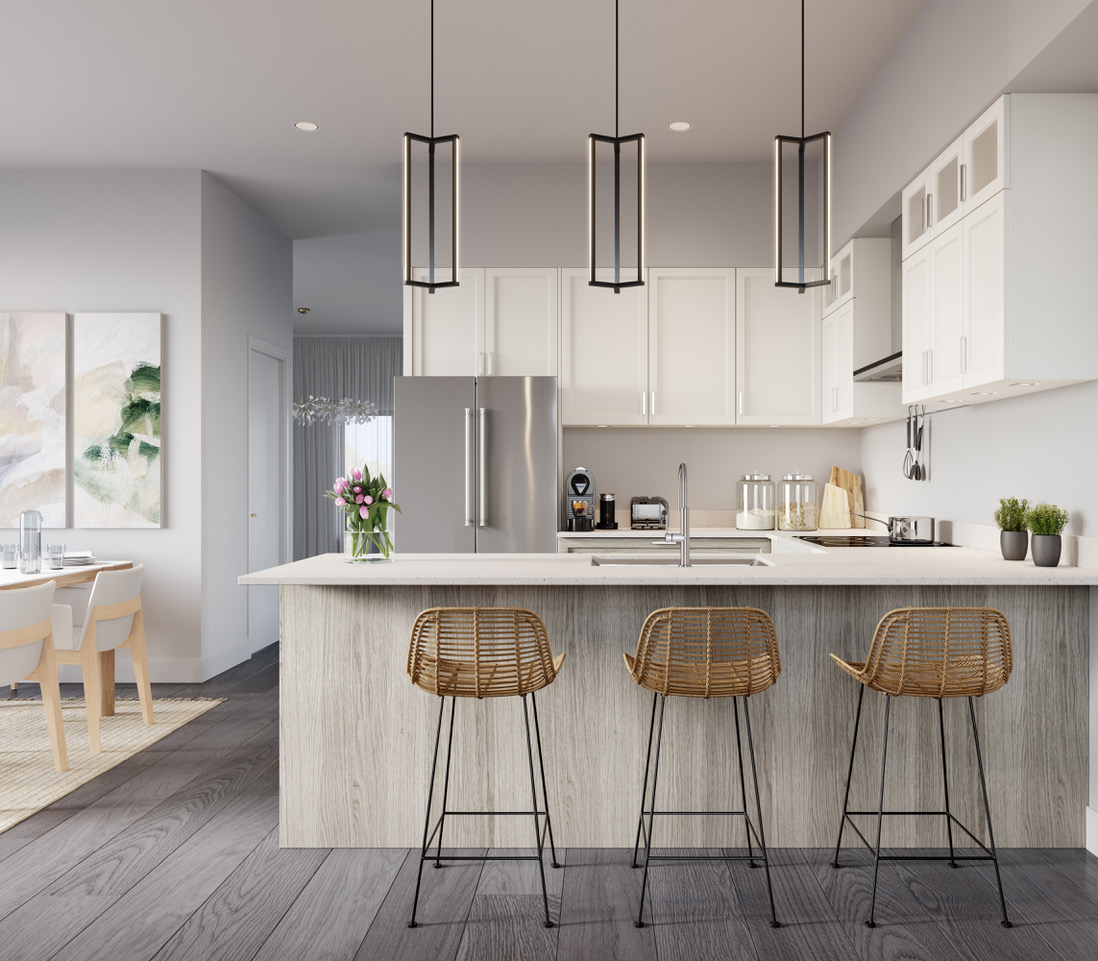 Rendering of Ivylea towns kitchen L