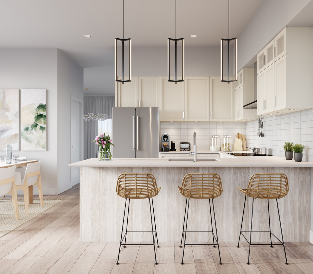Rendering of Ivylea towns kitchen M