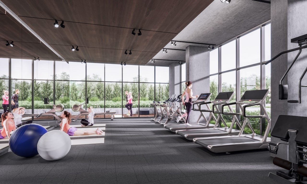 Rendering of Mondria Condos wellness and fitness centre