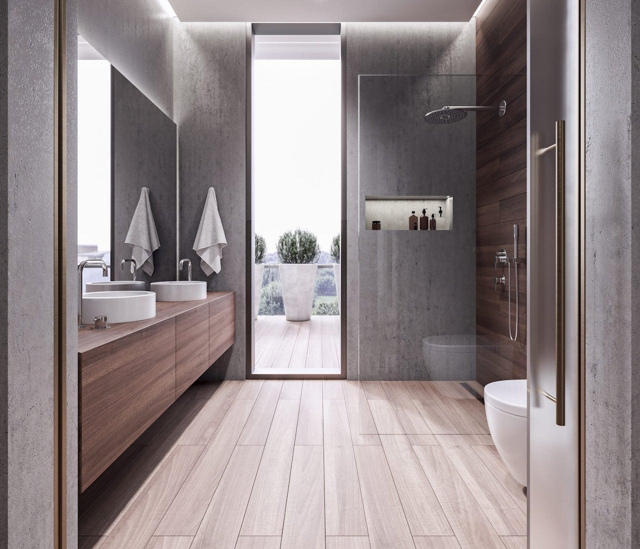 Rendering of Mondria Condos suite bathroom