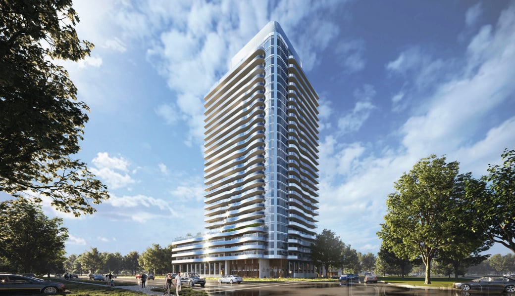 Rendering of Universal City East Condos exterior