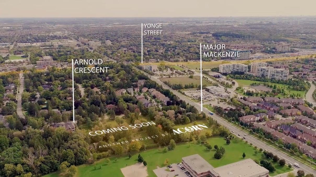 Aerial of Arnold & Major Mackenzie by Acorn Developments neighbourhood