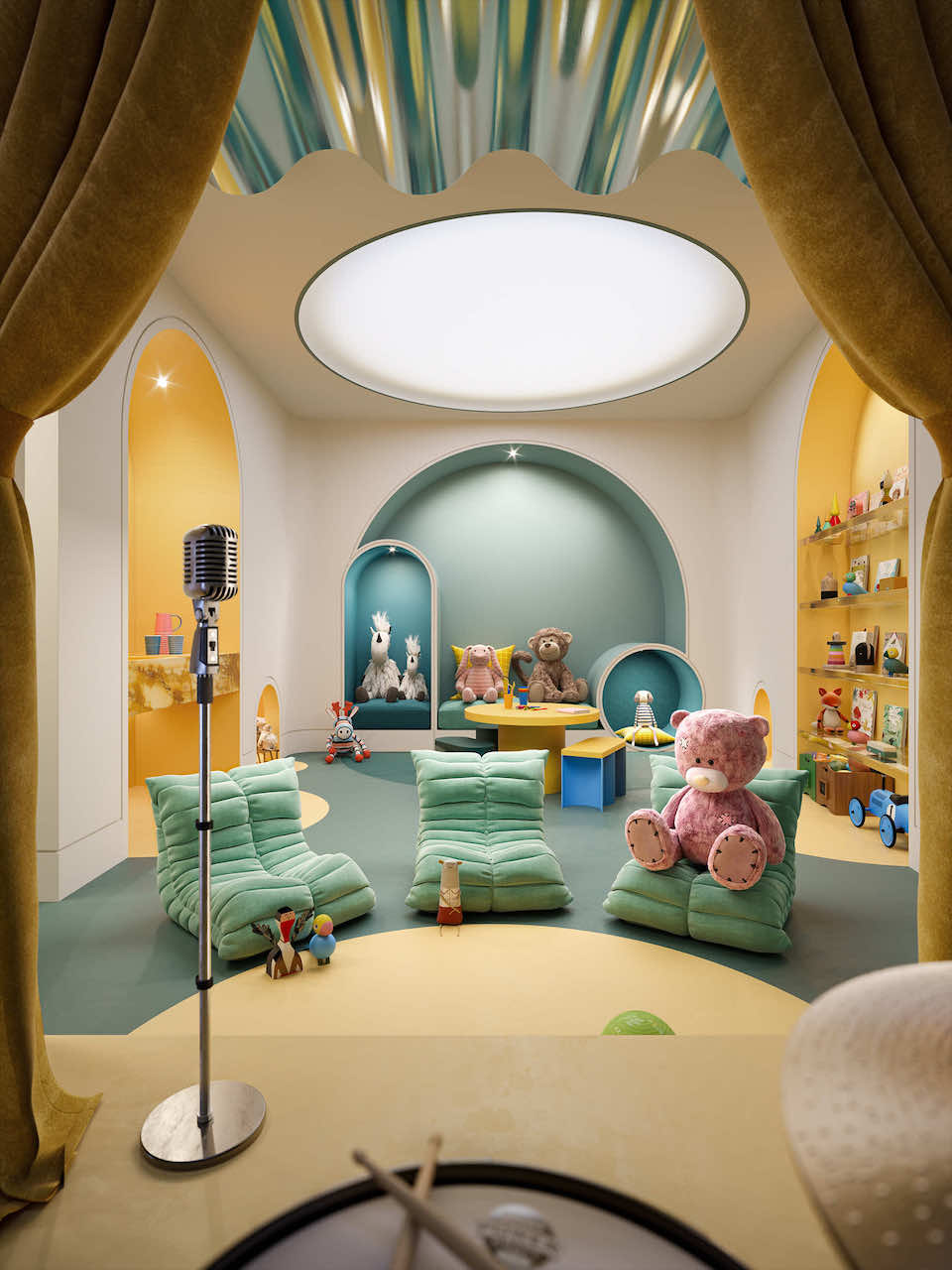 Rendering of The Capitol Condos child's play area