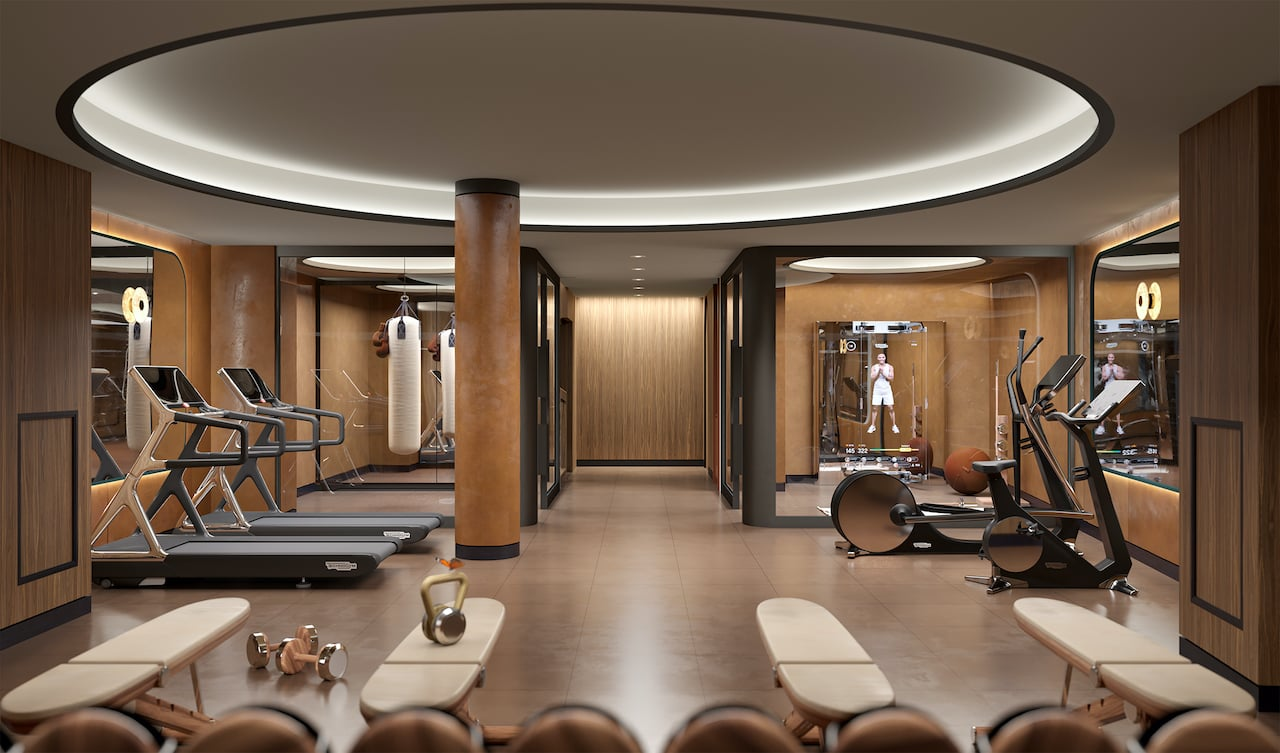 Rendering of The Capitol Condos Gym