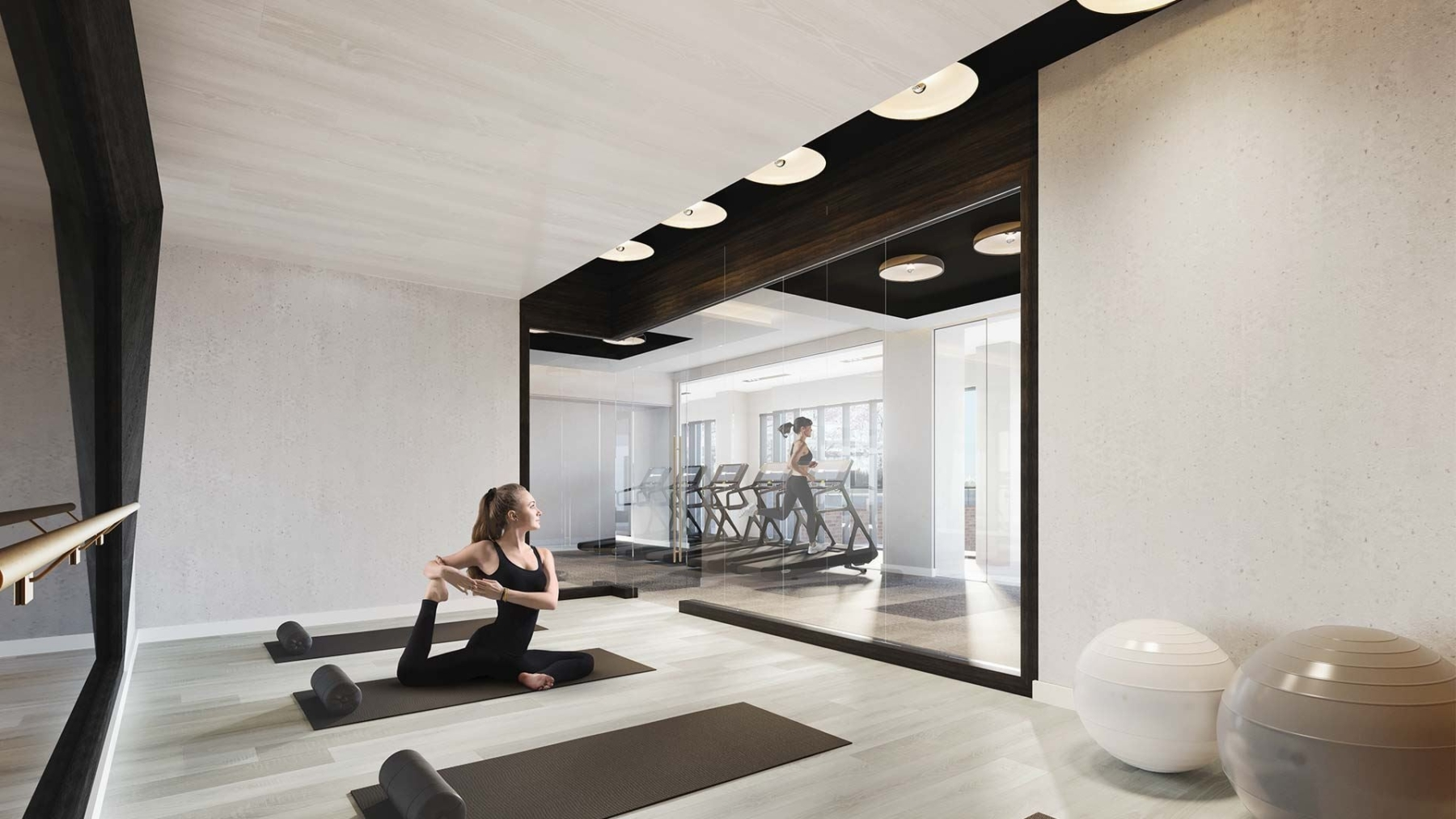 The Dupont Condos fitness studio for yoga