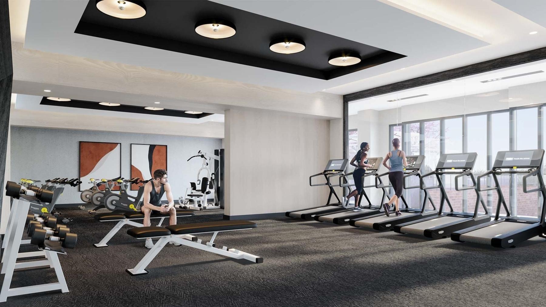 The Dupont Condos fitness centre