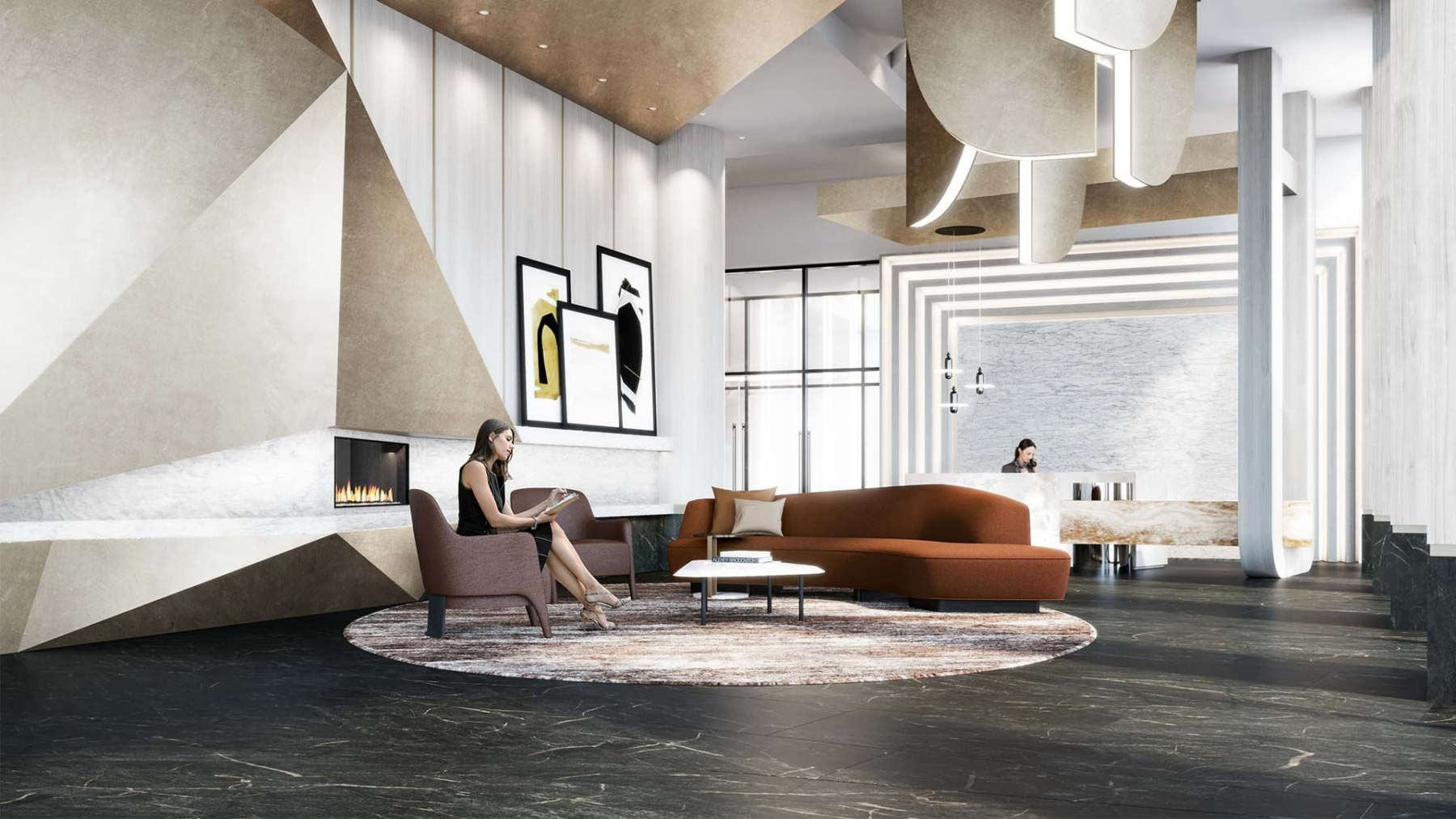 The Dupont Condos lounge