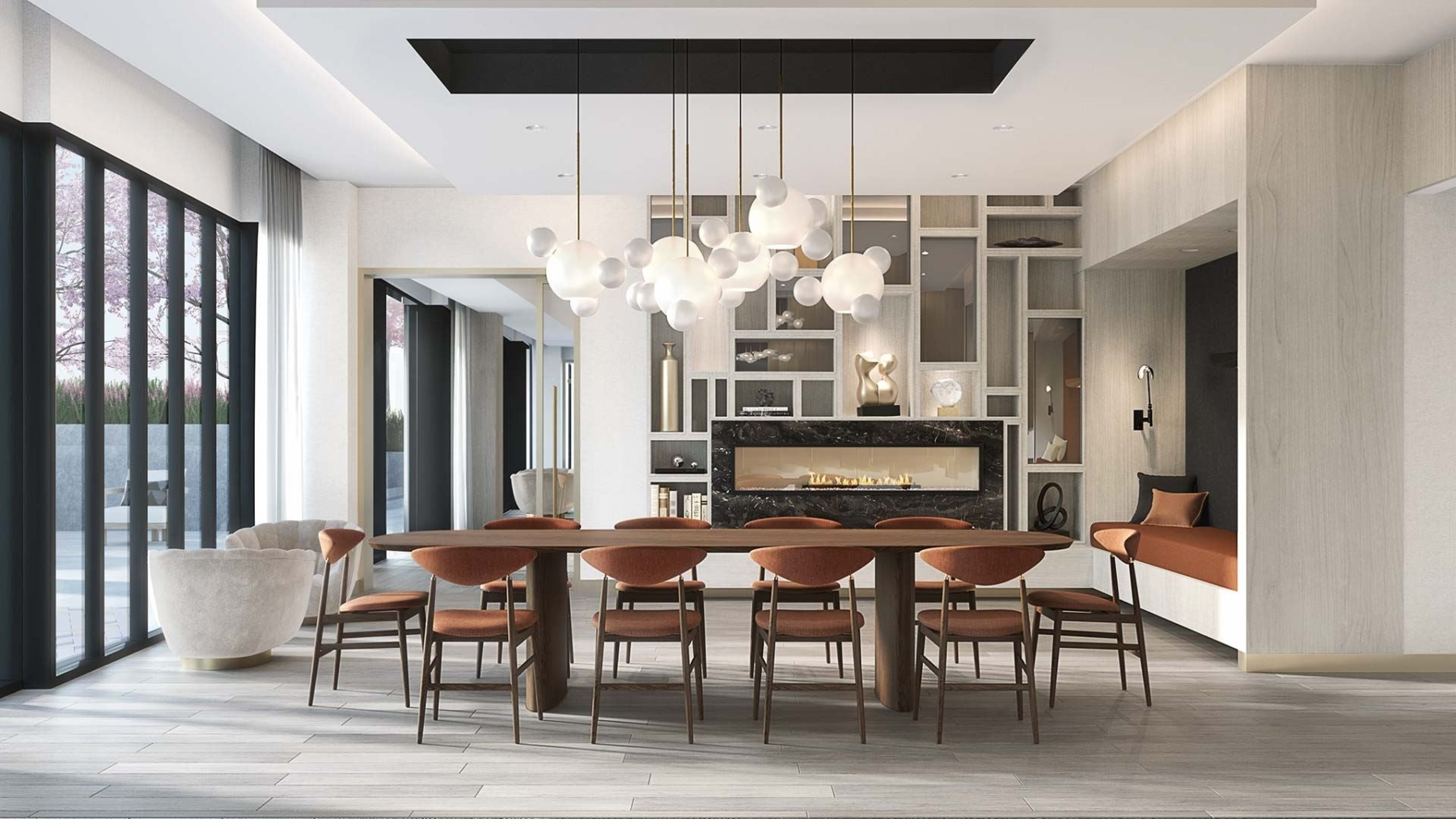 The Dupont Condos private dining space