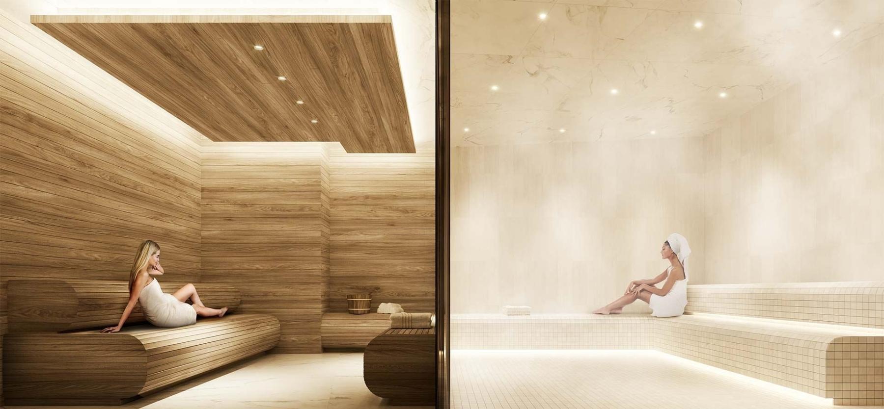 The Dupont Condos sauna