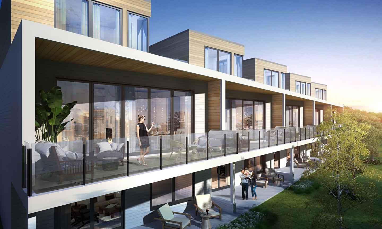 Rendering of Fenelon Lakes Club suites with balconies