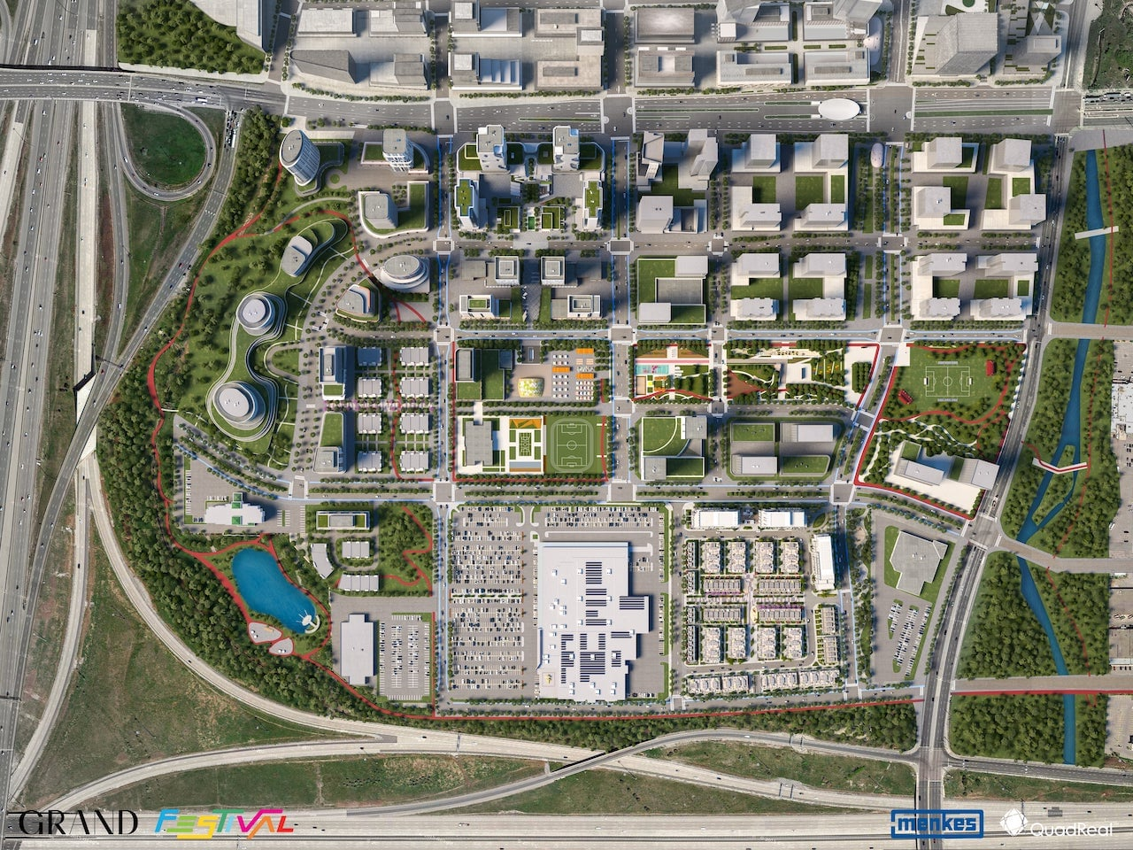 Site plan of Grand Festival Condos in Vaughan