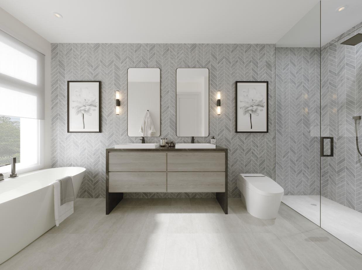 Rendering of Lookout On The Knoll Towns The Reserve Collection interior bathroom