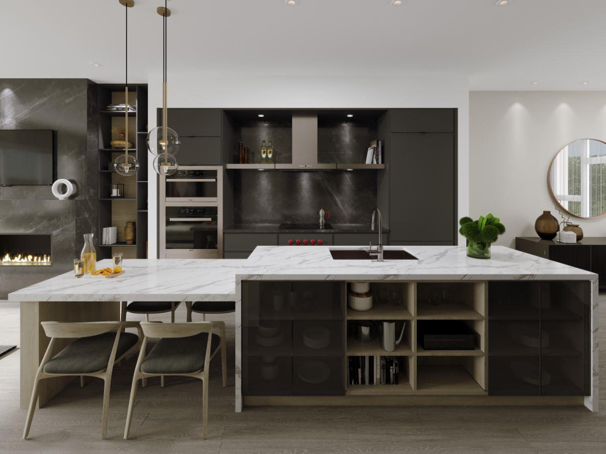 Rendering of Lookout On The Knoll Towns The Reserve Collection interior large kitchen
