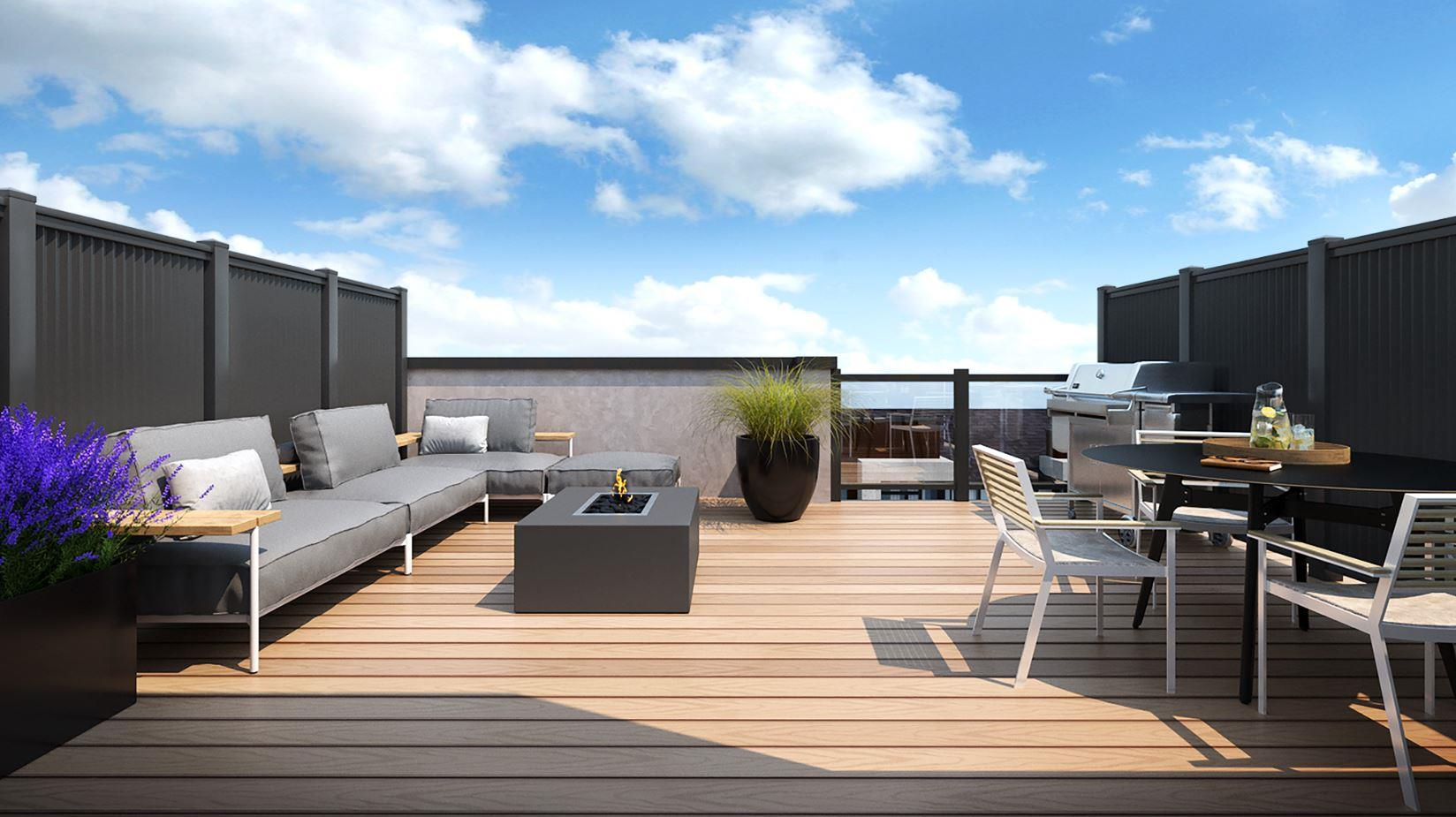Rendering of Lookout On The Knoll Towns The Reserve Collection rooftop terrace