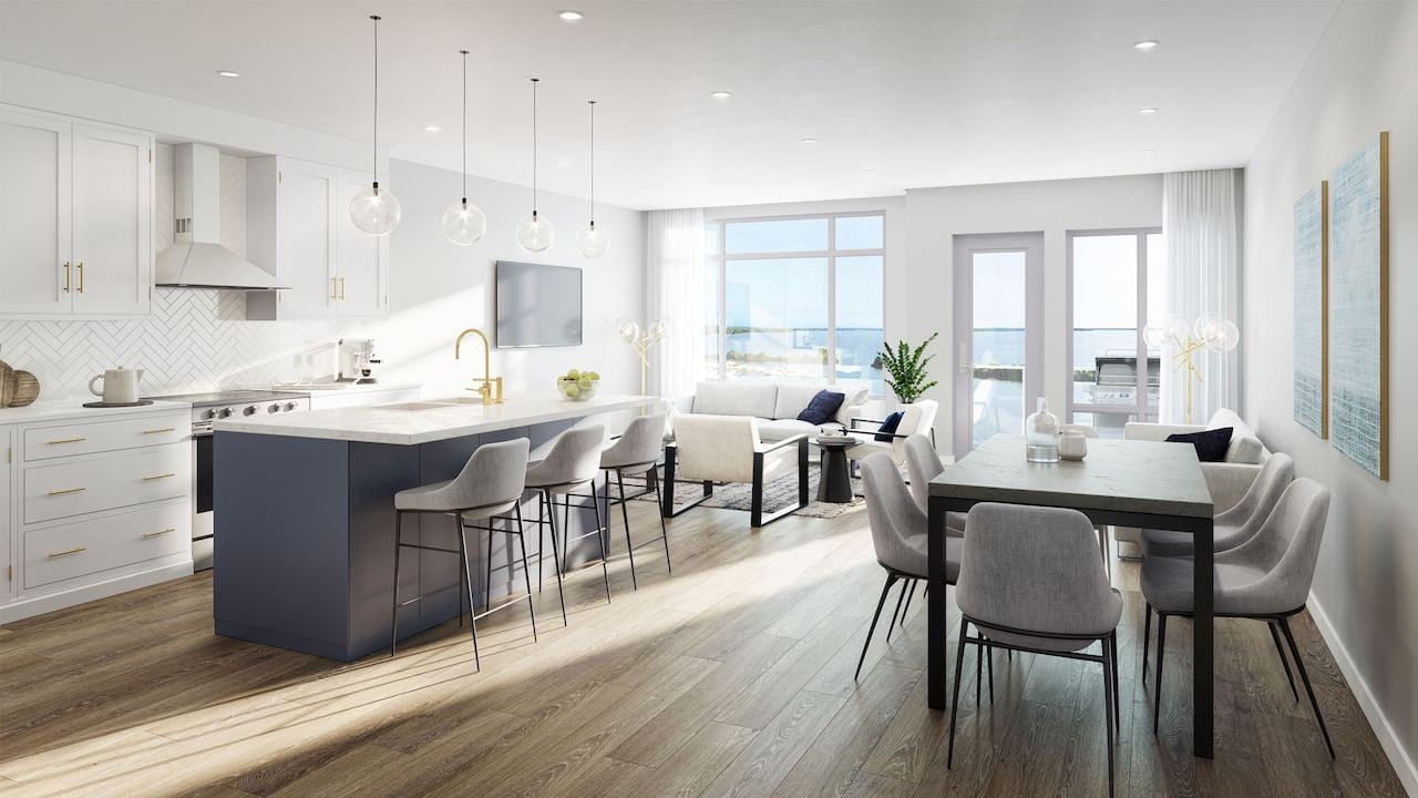 Rendering of Orillia Fresh Towns suite open-concept