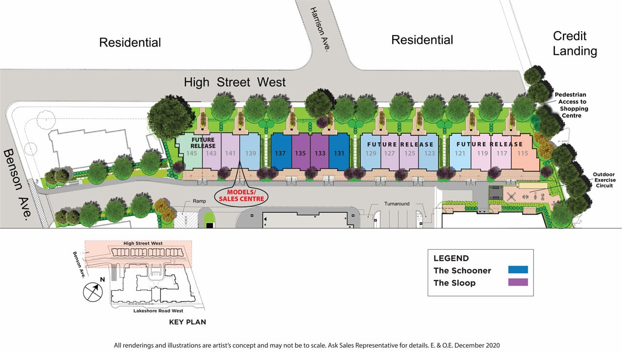 The Shores of Port Credit Siteplan