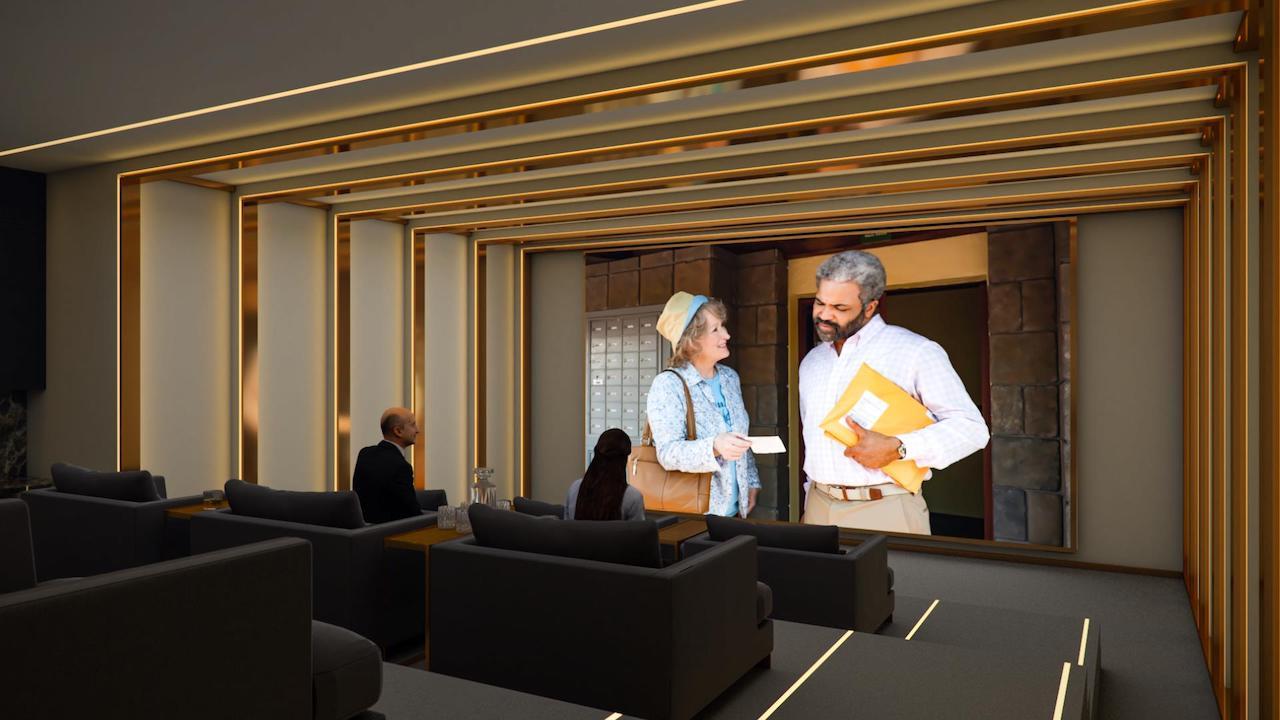 Theatre room rendering of Twin Regency Condos
