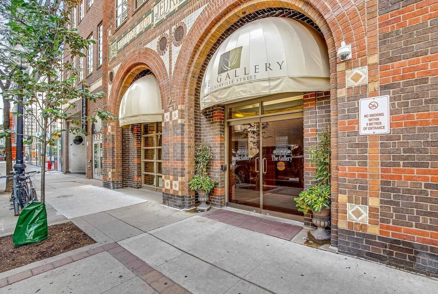 The Gallery 25 Grenville St Toronto exterior entrance angle view
