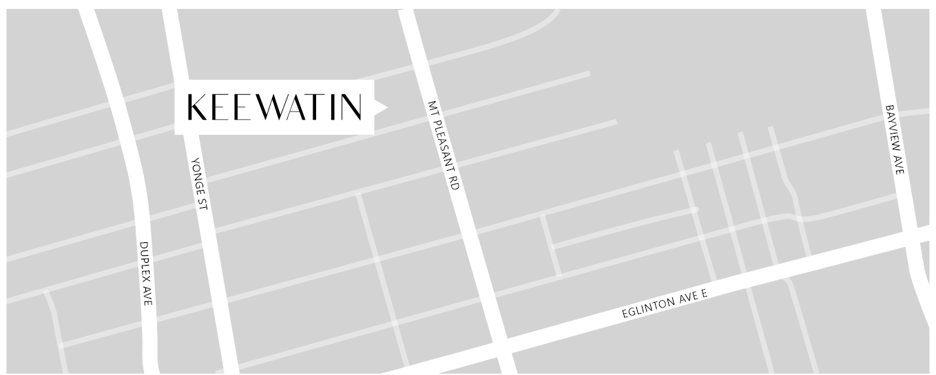 Street map of Residences on Keewatin Park in Toronto