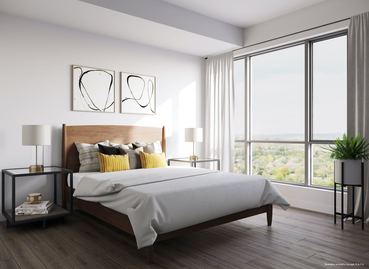 Rendering of Boulevard at the Thornhill suite bedroom