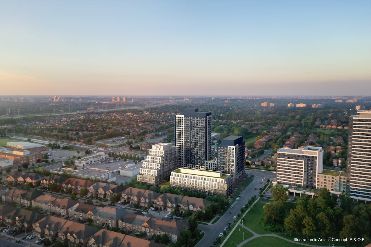 Rendering of Boulevard at the Thornhill aerial