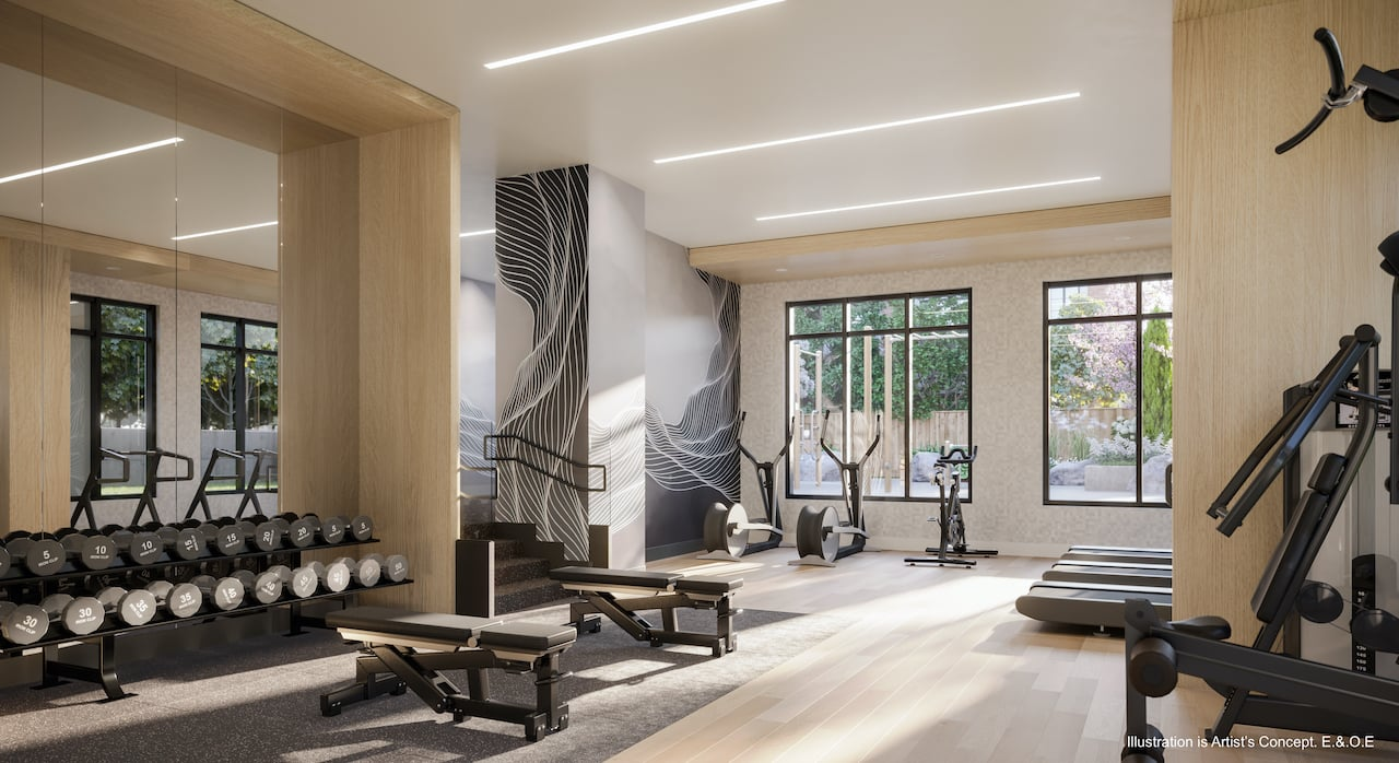 Rendering of Boulevard at the Thornhill fitness centre