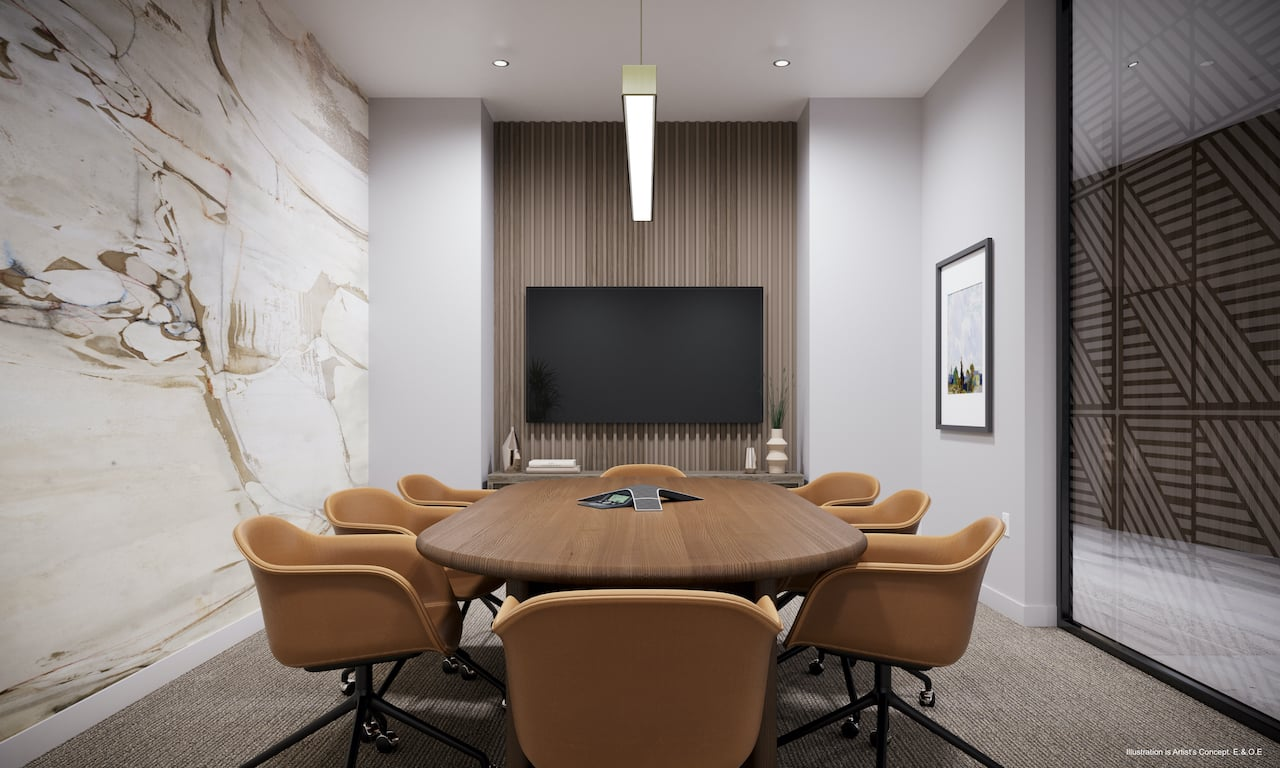 Rendering of Boulevard at the Thornhill meeting room