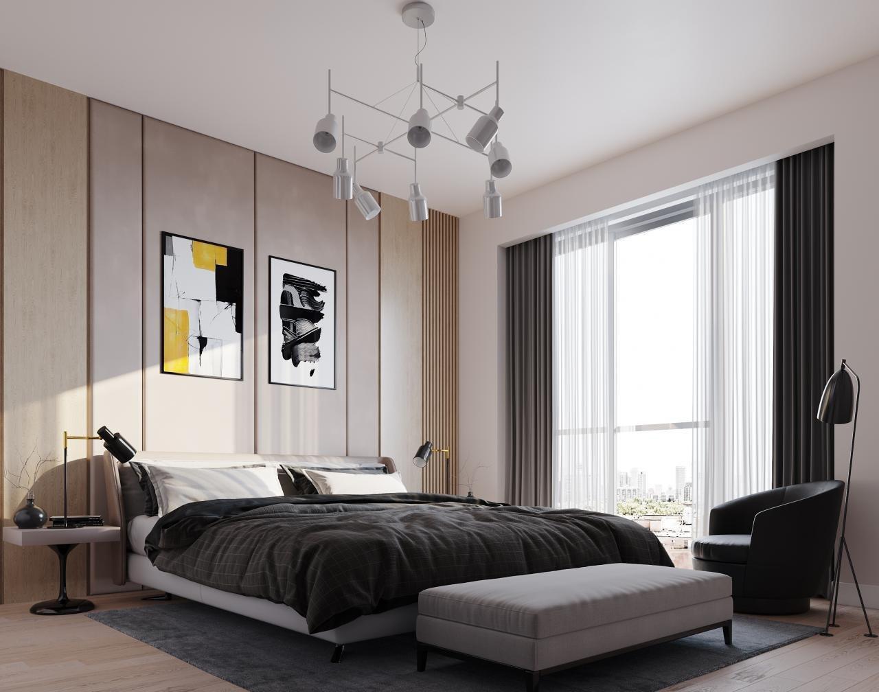Rendering of Nahid on Broadview suite interior bedroom