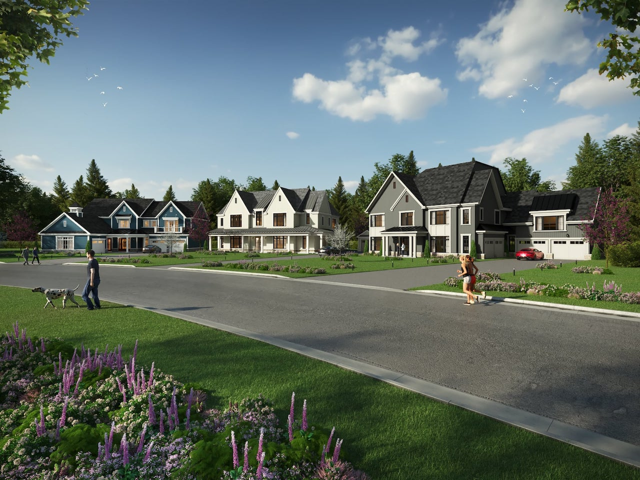 Rendering of Eagles Rest Estates Streetscape