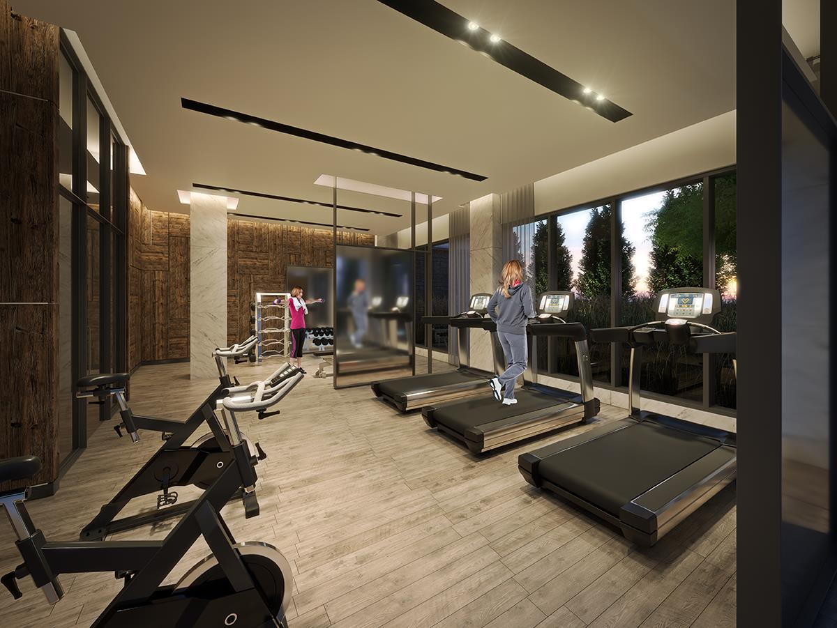 Rendering of SF3 Condos and Towns gym