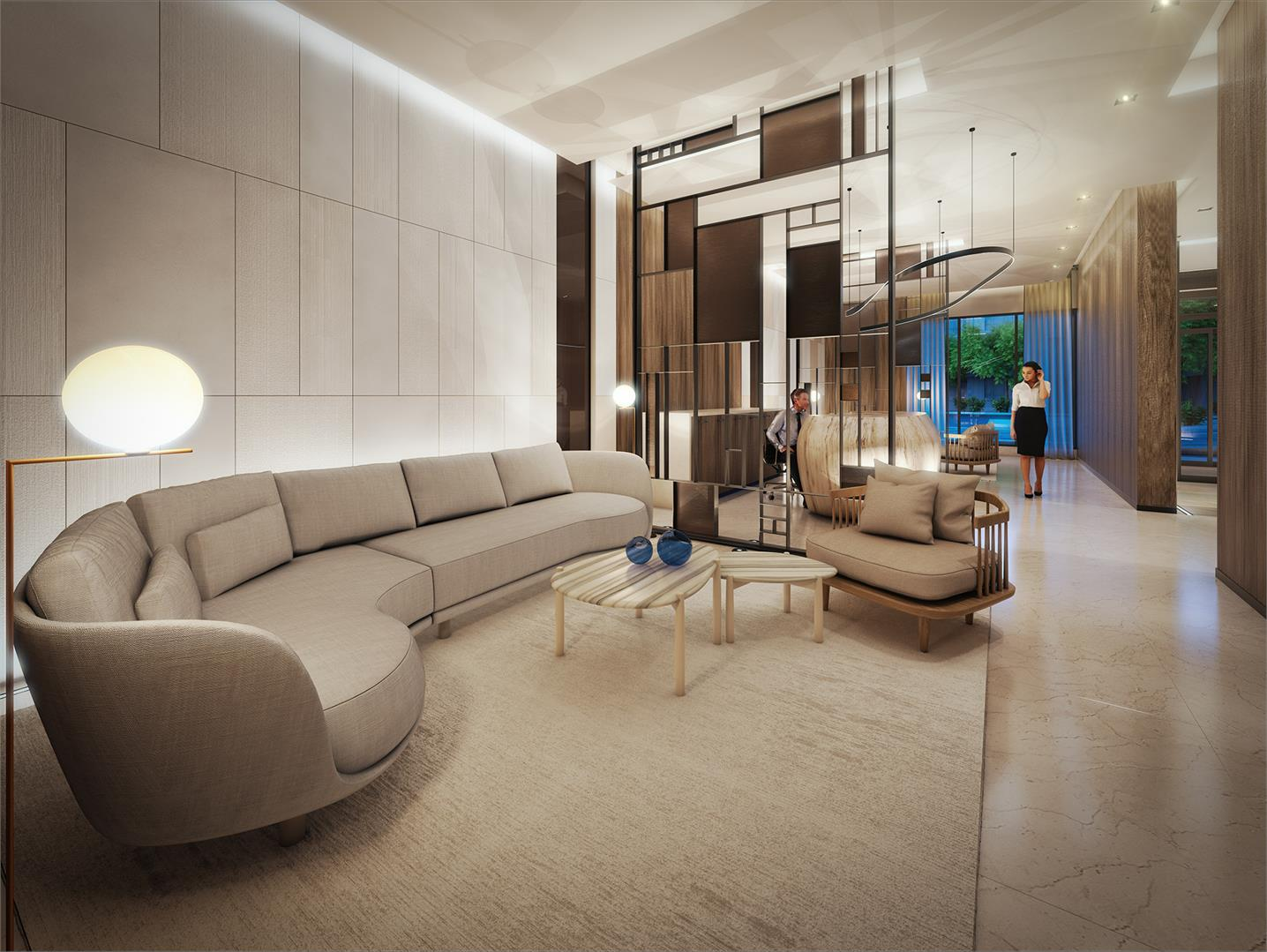 Rendering of SF3 Condos and Towns lobby