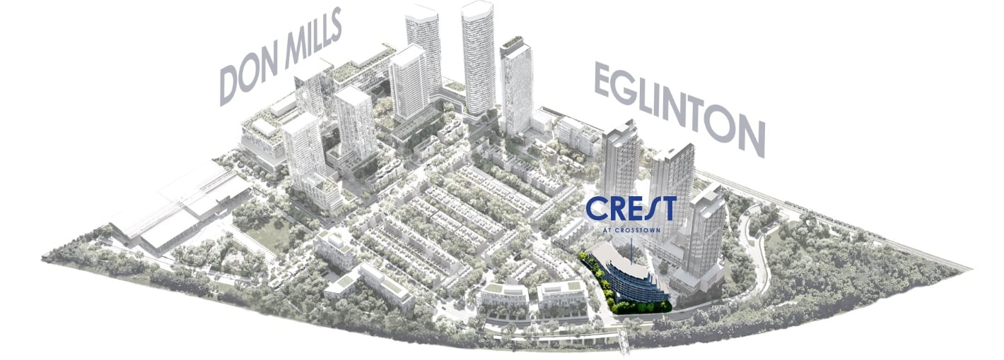 Map of Crest At Crosstown Community