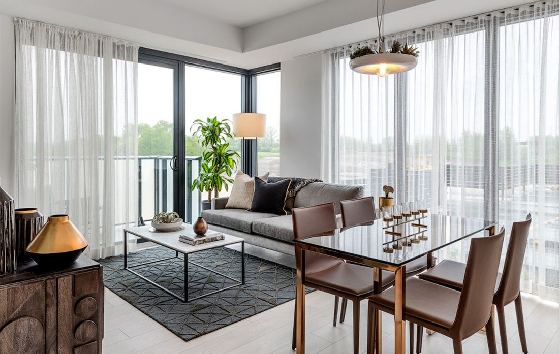 Hillmont at SXSW Model Suite living room
