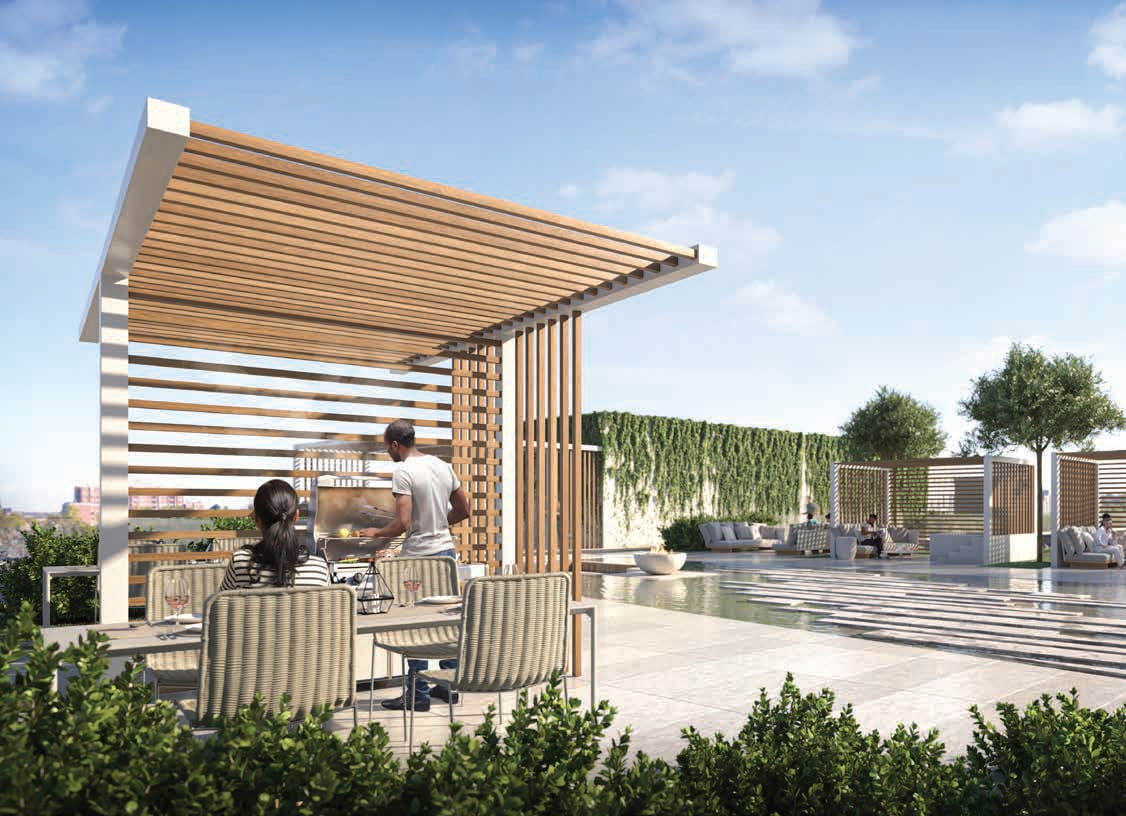 Rendering of 79825 Condos Exterior dining and BBQ