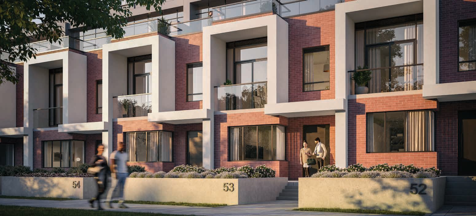 Rendering of 79825 Condos Exterior modern townhomes