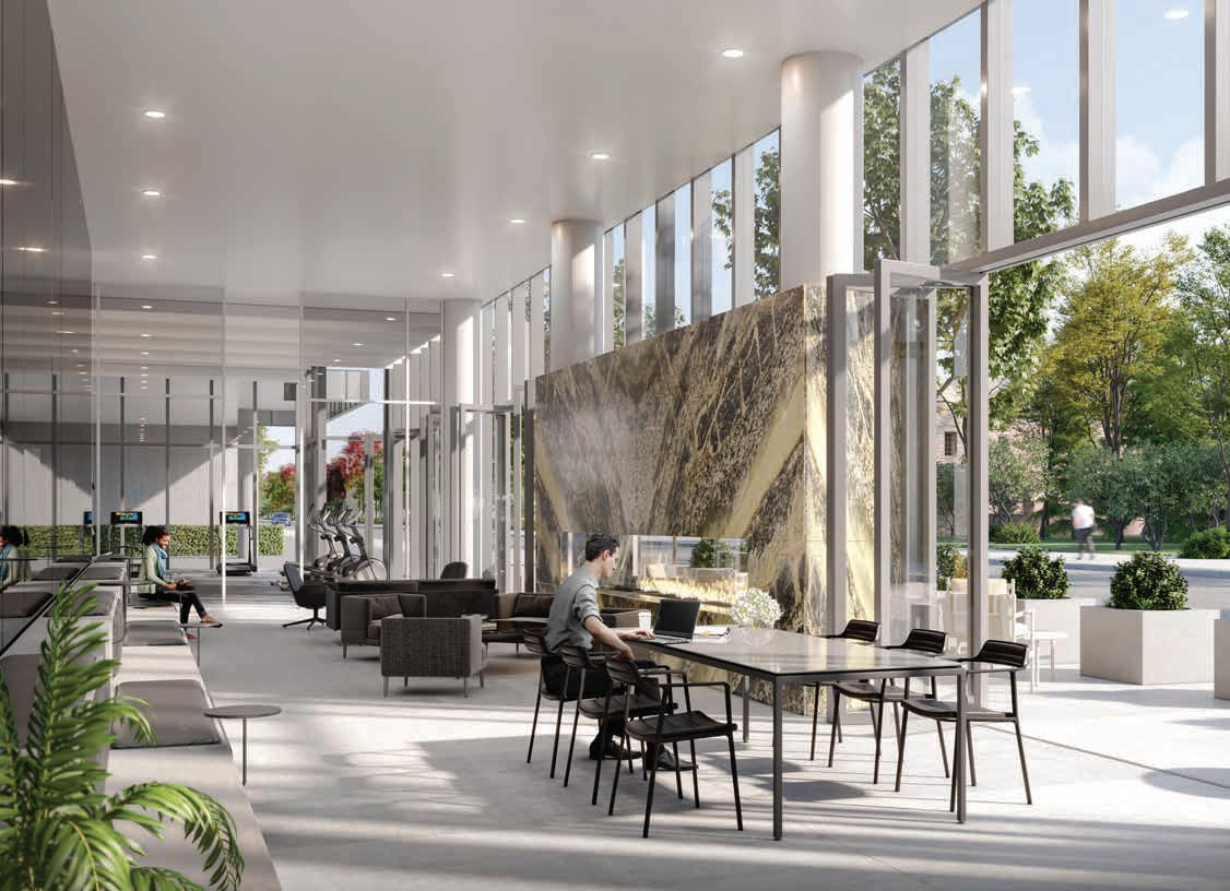 Rendering of 79825 Condos Interior co-working space
