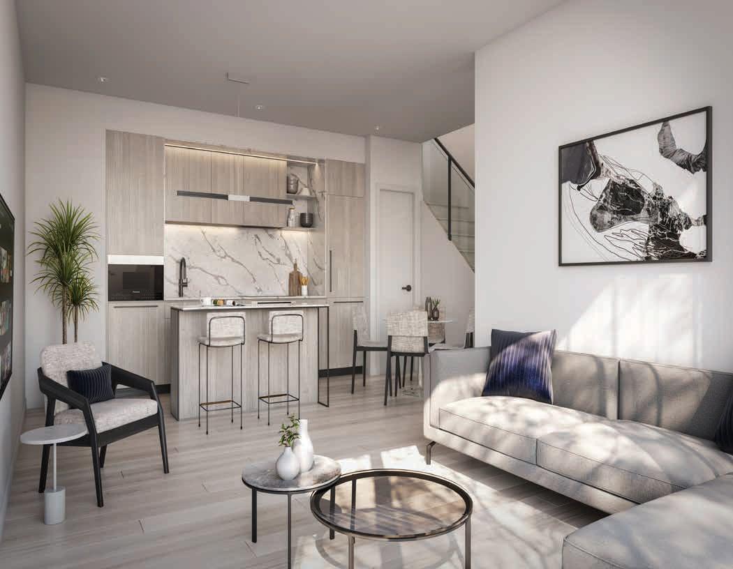 Rendering of 79825 Condos Interior suite open-concept