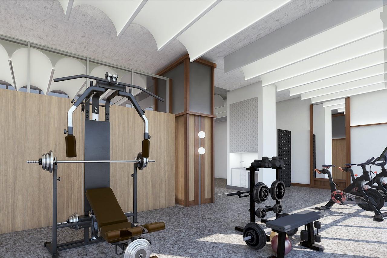 Crest Condos interior gym