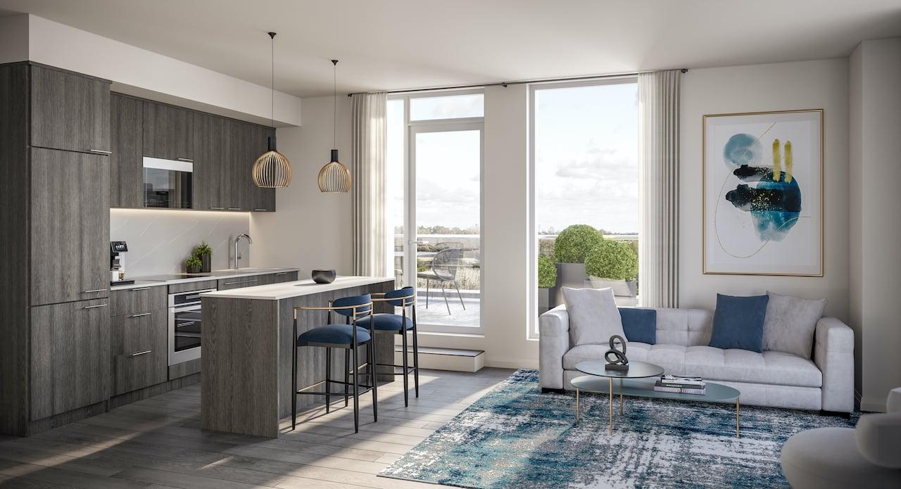 Rendering of The Wilmot Condos Interior suite