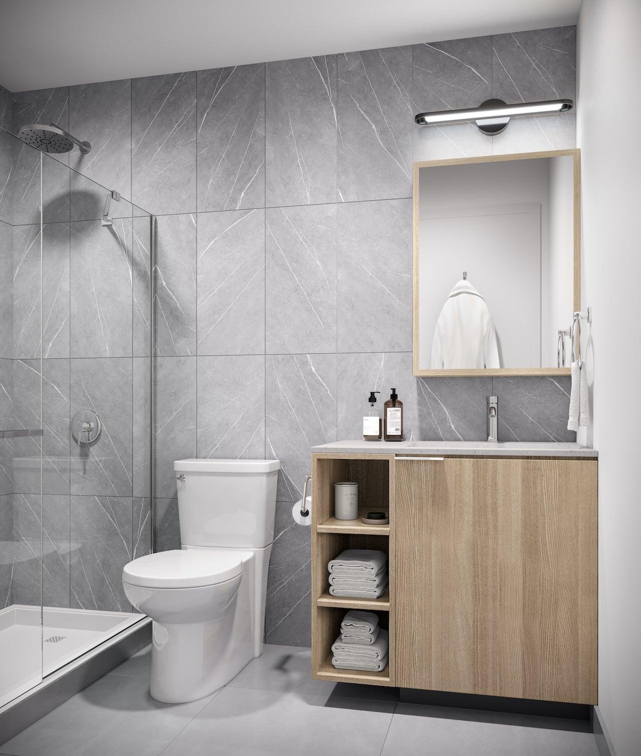 Rendering of Verge Condos suite bathroom