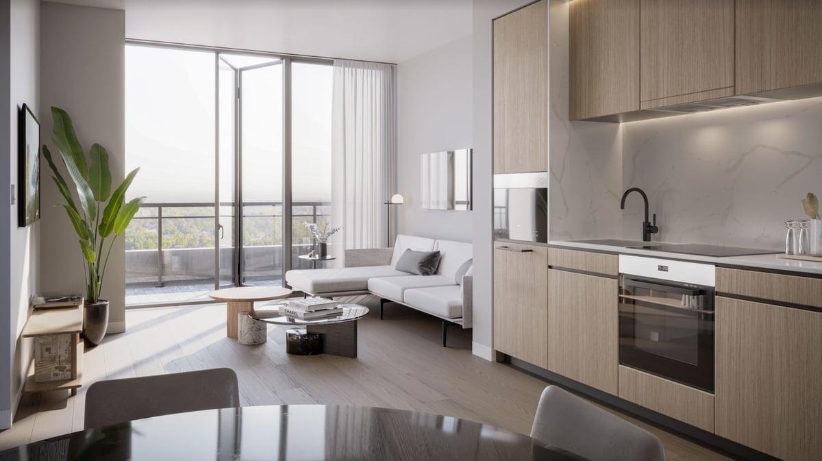 Rendering of Y9825 Condos suite interior