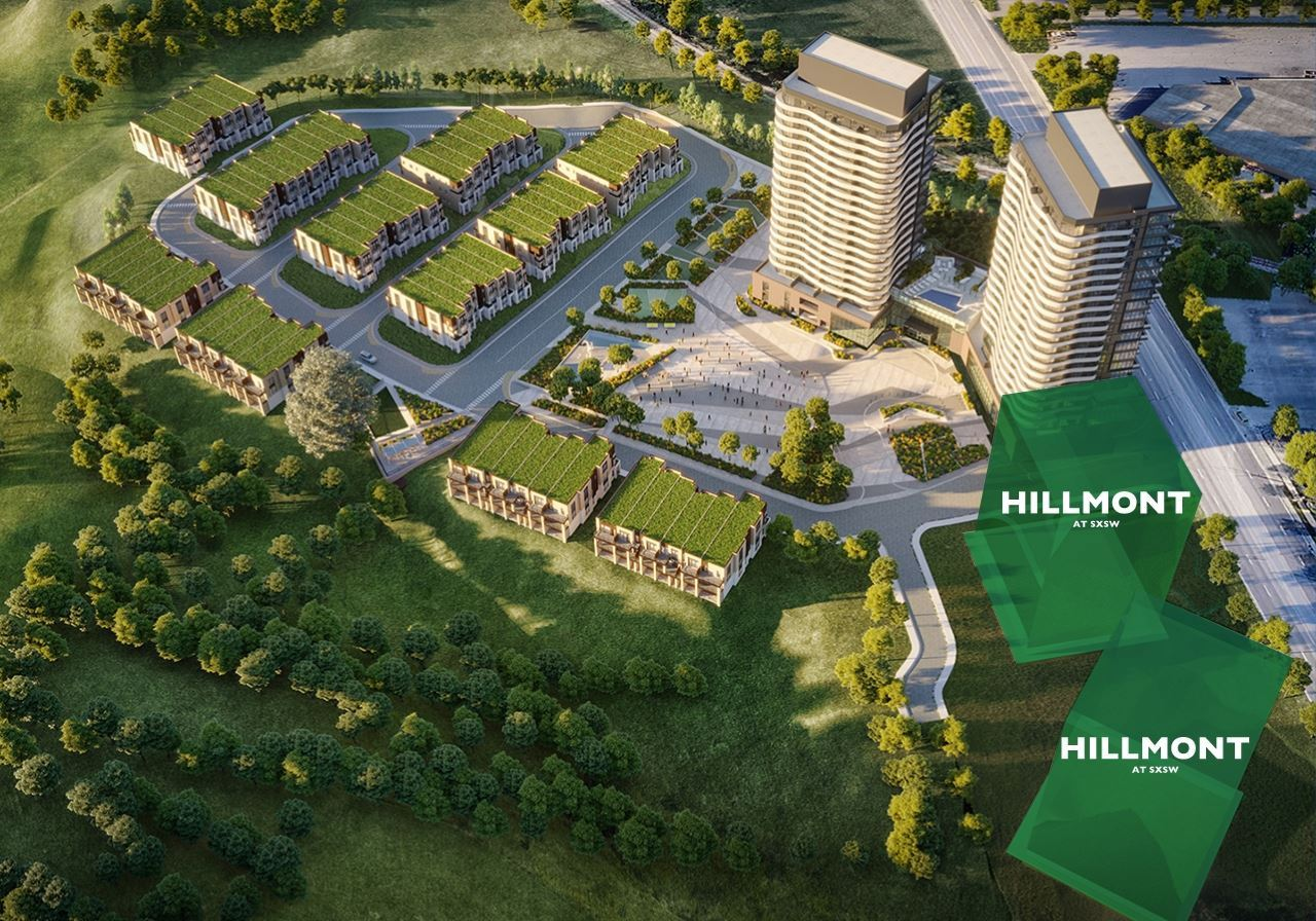 Hillmont at SXSW aerial site overview